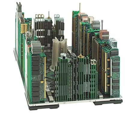 Макеты городов из IT-мусора