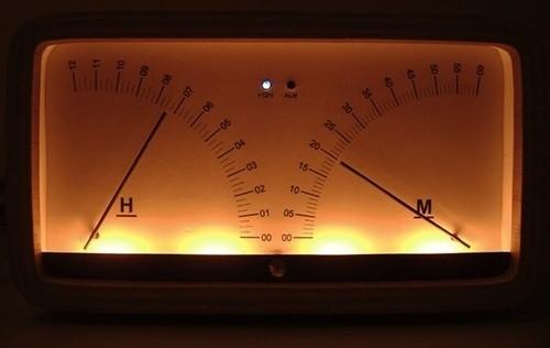 Винтажные часы из вольтметров