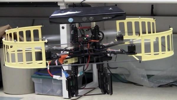Kinect превратили в радар квадрокоптера