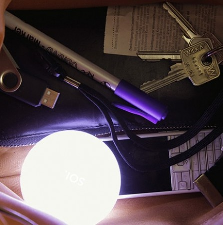 Лампа-шар для наплечной сумки