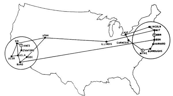 Карта зародыша интернета