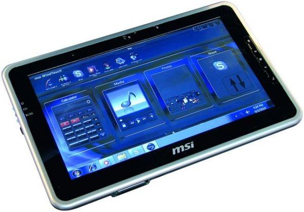 MSI WindPad 100W – планшетник с Windows 7