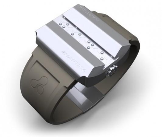 Наручные часы для слепых с шрифтом Брайля