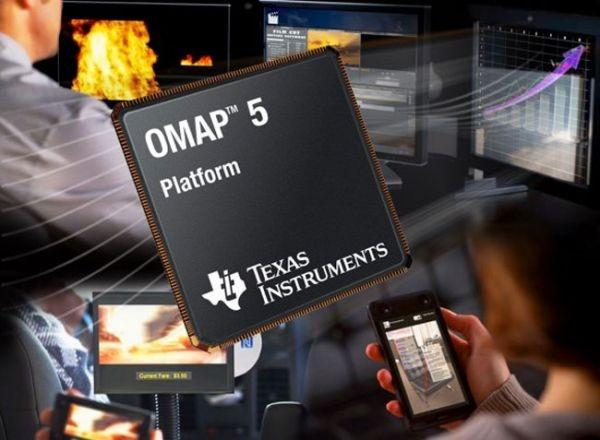 Четырехъядерные процессоры для смартфонов TI OMAP5