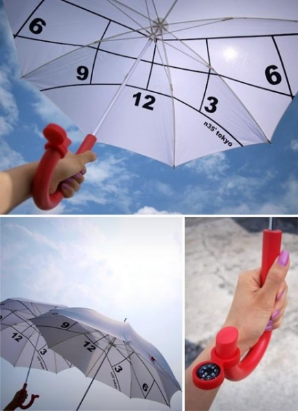 Зонтик-часы