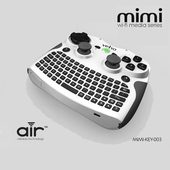 Veho представляет необычный джойстик Mimi с QWERTY-клавиатурой