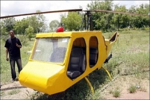 Вертолет из мусора