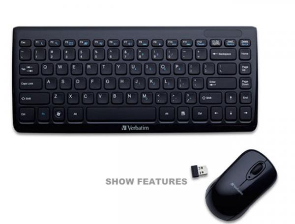 Беспроводная мини-клавиатура и мышь от Verbatim