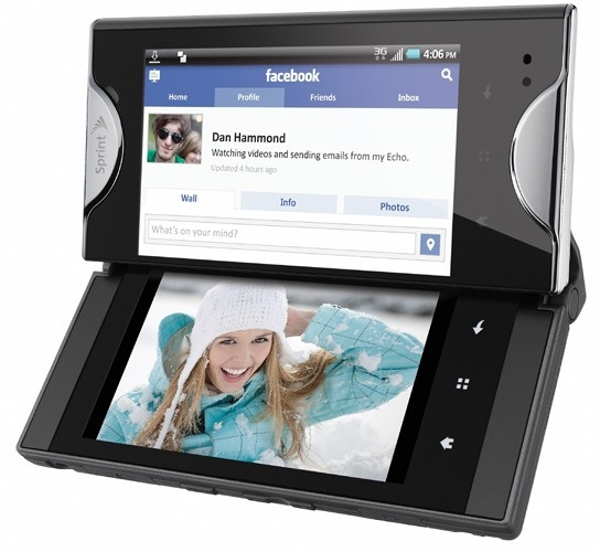 Kyocera Echo – телефон с двумя дисплеями