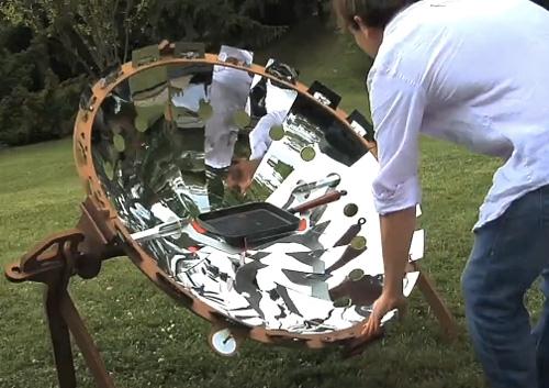 Портативный солнечный коллектор – прекрасная печь для походов