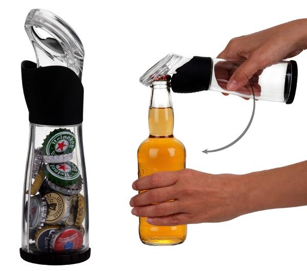 Открывалка-бутылка для бутылок, сохраняющая крышки
