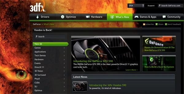 Производители шутят: Nvidia «переименовалась» в 3dfx