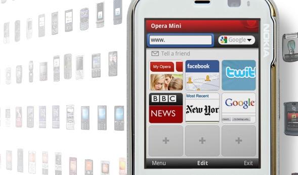 Opera Mini набрала 100 миллионов пользователей