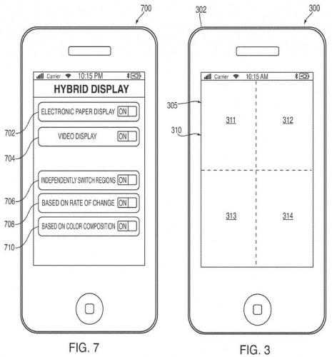 Еще один патент Apple: гибридный экран e-paper/ЖК