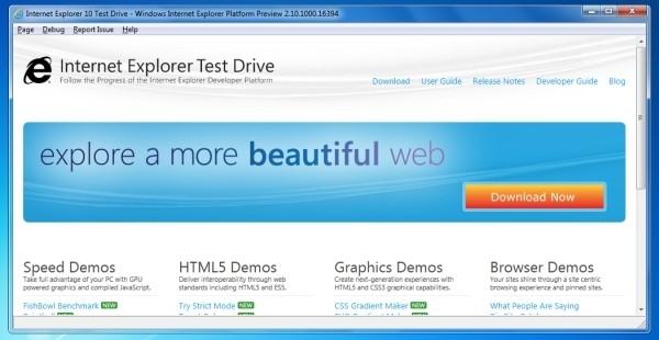 Microsoft выпускает «превью» Internet Explorer 10