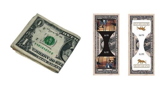 «Невидимый» зажим для денег