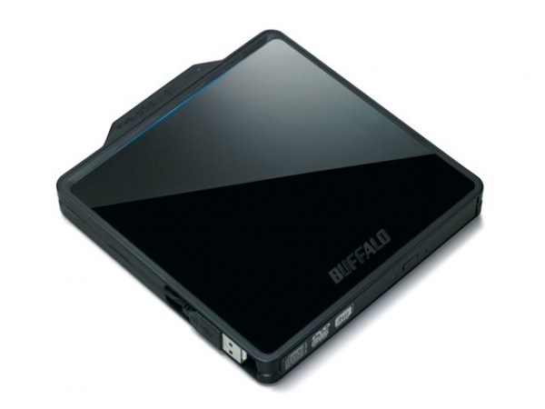 Buffalo выпускает тонкий и стильный портативный DVD-привод