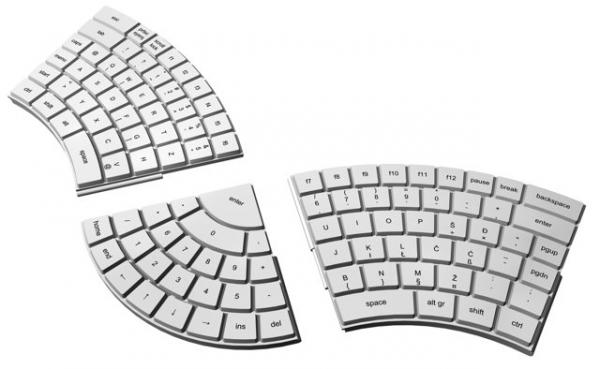 Концепт эргономичной клавиатуры
