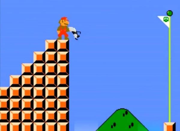 """Если бы у Марио была пушка из """"Portal""""…"""