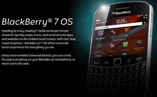 RIM анонсирует BlackBerry 7 OS