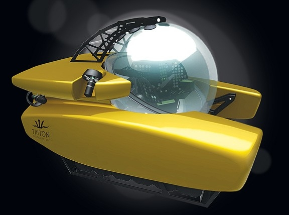 Подлодка Triton позволит погрузиться на 11-километровую глубину