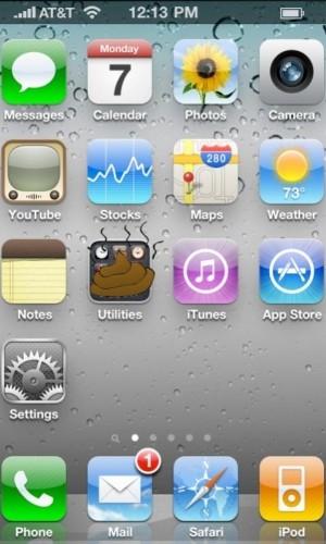 iPooey – имитирует интерфейс iOS 4 на смартфоне WP7