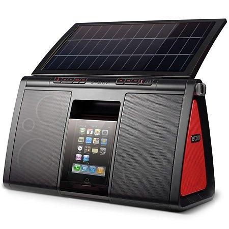 Eton Soulra XL: док-станция и колонки для iPod/iPhone, с солнечной батареей