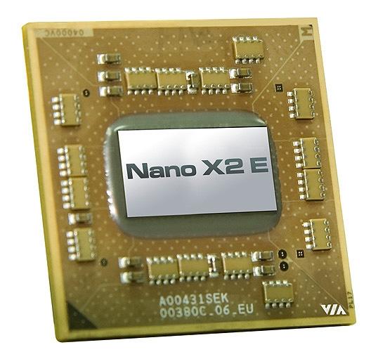 VIA анонсирует новый двухъядерный процессор Nano X2 E