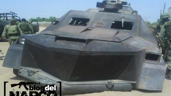Мексиканский наркокартель обзавелся самодельными бронетранспортерами