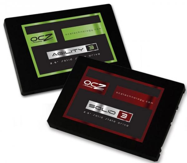 OCZ запускает твердотельные накопители Agility 3 и Solid 3