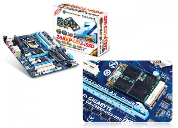 Gigabyte Z68XP-UD3-iSSD – материнская плата со встроенным SSD