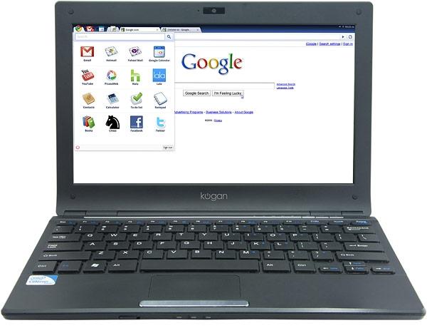 Kogan Agora – первый вышедший в продажу лэптоп с Google Chromium OS