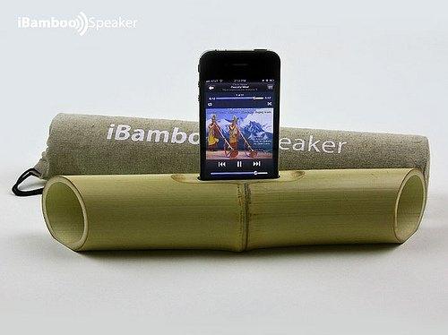 iBamboo Speaker – зеленая аудиосистема для iPhone