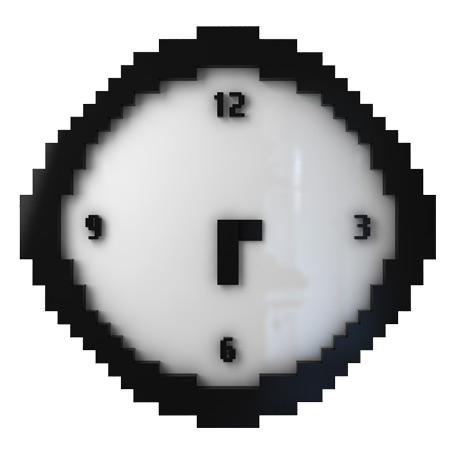 Настенные часы Pixel Time покажут время в низком разрешении