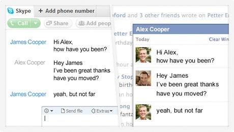 В Facebook появился видеочат от Skype