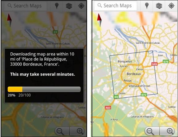 Google добавляет в Maps 5.7 возможность скачивать и сохранять карты