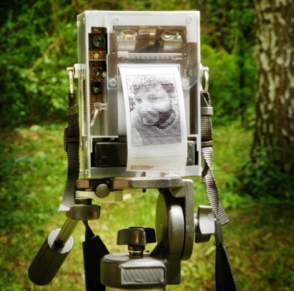 Самодельная фотокамера напечатает вашу фотографию на термобумаге из кассового аппарата