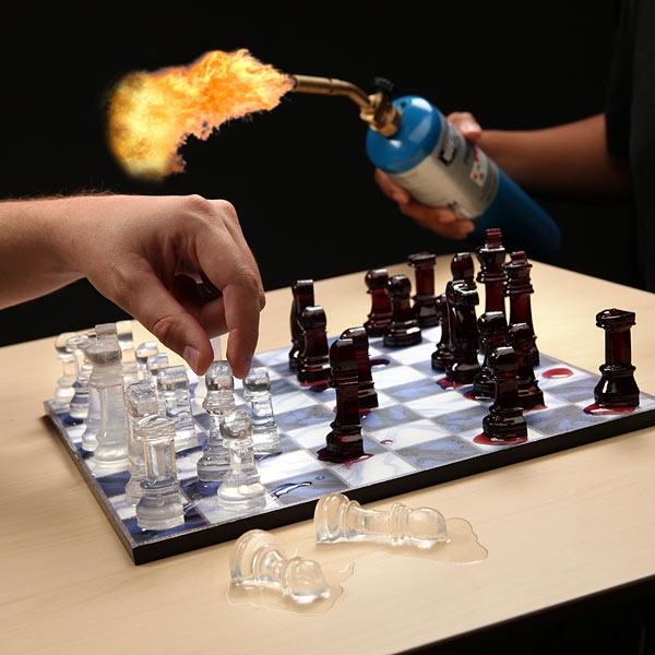 Шахматы изо льда или природа в роли шахматных часов