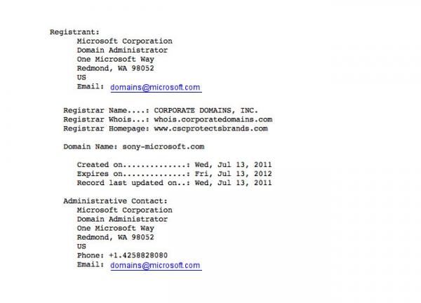 Зачем Microsoft зарегистрировала доменное имя sony-microsoft.com?