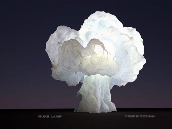 Лампа в виде атомного гриба