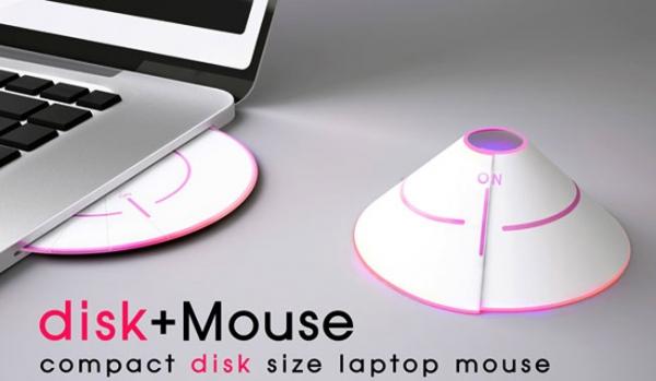 Необычный концепт мыши для ноутбуков