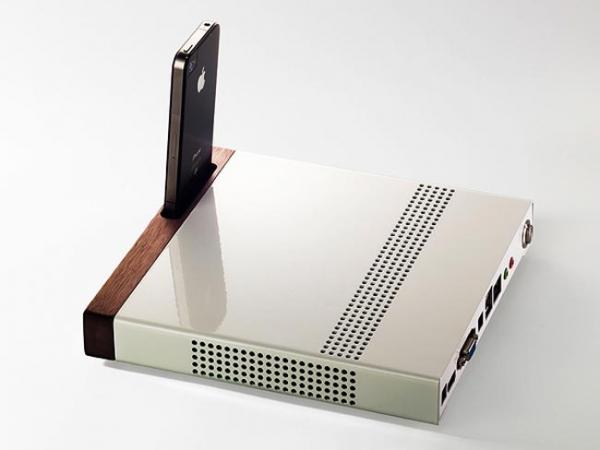 Супертонкий компьютер с док-станцией для iPhone
