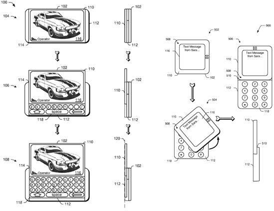 Microsoft патентует новый тип мобильных слайдеров