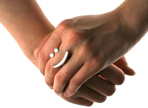 Кольцо в виде смайлика