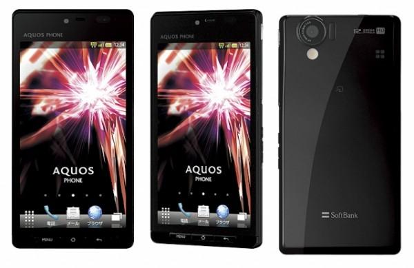 Смартфон Sharp Aquos с qHD 3D-дисплеем и 12 МП камерой