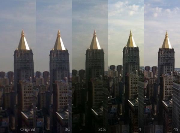 Сравнение фотокамер пяти поколений iPhone