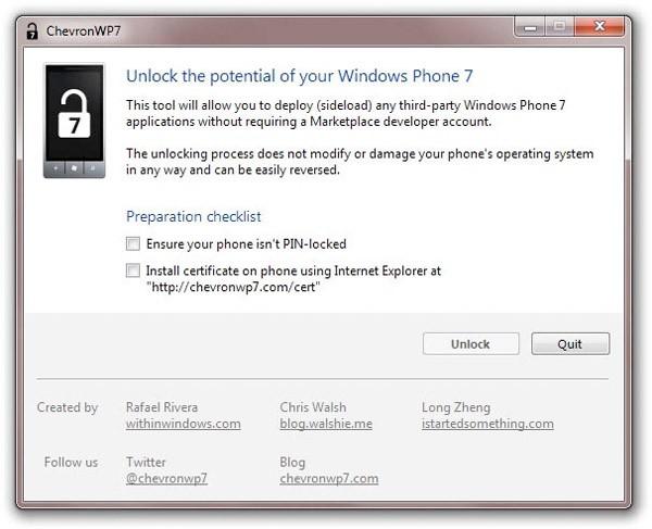 С ведома MS выпущена утилита разблокировки Windows Phone