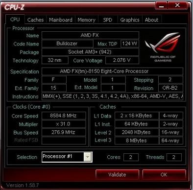 Мировой рекорд по разгону AMD снова побит, результат — 8.58 ГГц
