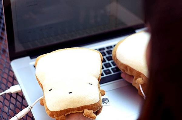 USB-грелка в виде тостов