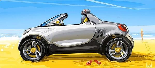 Smart покажет миниатюрный пикап на американском автошоу